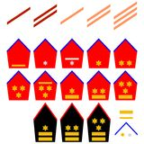 Insignia of the Belgian Royal Army Stock Image
