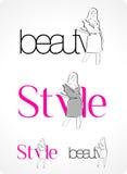 Insignia - belleza y estilo ilustración del vector