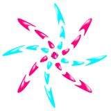 Insignia bicolor Imagen de archivo libre de regalías