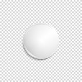 Insignia blanca realista transparente Fotos de archivo