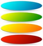 Insignia, botón, sistema de la bandera en el color brillante 4 con el efecto leve 3d libre illustration