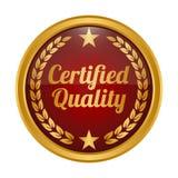 Insignia certificada de la calidad en el fondo blanco libre illustration