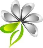 Insignia con estilo de la flor stock de ilustración
