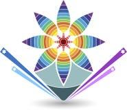 Insignia con estilo de la flor libre illustration