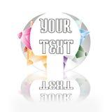 Insignia con los cristales Imagenes de archivo