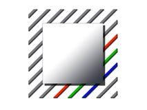 Insignia cuadrada Imagenes de archivo