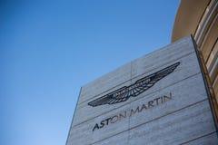 Insignia de Aston Martin fotografía de archivo