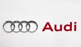 Insignia de Audi Fotos de archivo libres de regalías