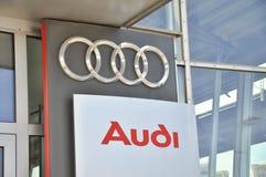 Insignia de Audi Foto de archivo libre de regalías