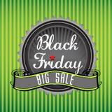 Insignia de Black Friday Imágenes de archivo libres de regalías