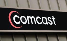 Insignia de Comcast imágenes de archivo libres de regalías