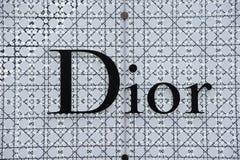 Insignia de Dior foto de archivo libre de regalías