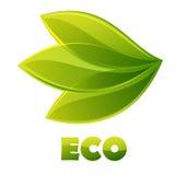 Insignia de Eco Foto de archivo