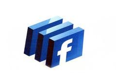 Insignia de Facebook Imágenes de archivo libres de regalías
