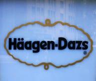Insignia de Haagen-Dazs Imagenes de archivo