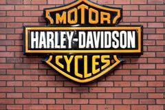 Insignia de Harley Davidson imagenes de archivo