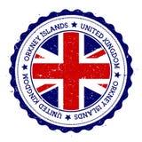 Insignia de la bandera de las Islas Orcadas Imágenes de archivo libres de regalías