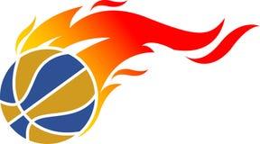 Insignia de la bola de fuego ilustración del vector