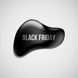 Insignia de la burbuja de la venta de Black Friday libre illustration