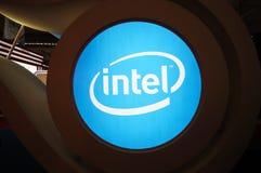Insignia de la cabina de Intel Fotos de archivo libres de regalías