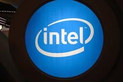 Insignia de la cabina de Intel Imágenes de archivo libres de regalías