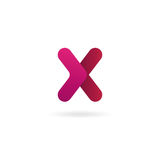 Insignia de la carta X Plantilla del diseño del icono del vector muestra del color Fotos de archivo libres de regalías