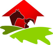 Insignia de la casa del animal doméstico stock de ilustración