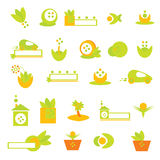 Insignia de la ecología y vector del â de los iconos Foto de archivo libre de regalías
