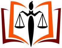 Insignia de la educación de la ley stock de ilustración