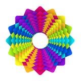 Insignia de la flor del arco iris Imágenes de archivo libres de regalías