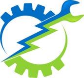 Insignia de la herramienta eléctrica ilustración del vector