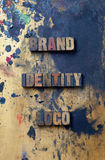 Insignia de la identidad de marca de fábrica Fotografía de archivo
