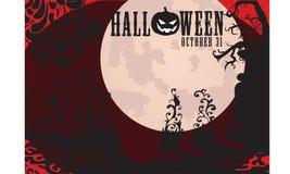Insignia de la invitación del partido de Halloween Foto de archivo libre de regalías