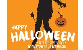 Insignia de la invitación del partido de Halloween Fotografía de archivo libre de regalías
