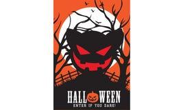 Insignia de la invitación del partido de Halloween Foto de archivo