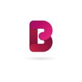 Insignia de la letra B Plantilla del diseño del icono del vector muestra del color Fotos de archivo libres de regalías