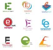 Insignia de la letra E Fotos de archivo