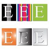 Insignia de la letra E ilustración del vector