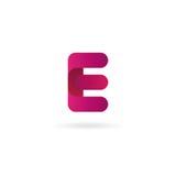 Insignia de la letra E Plantilla del diseño del icono del vector muestra del color Imagen de archivo libre de regalías