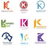 Insignia de la letra K Fotos de archivo libres de regalías