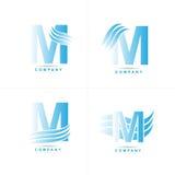 Insignia de la letra M Imagenes de archivo