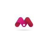 Insignia de la letra M Plantilla del diseño del icono del vector Imagenes de archivo