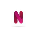 Insignia de la letra N Plantilla del diseño del icono del vector muestra del color Fotos de archivo libres de regalías