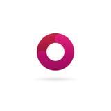 Insignia de la letra O Plantilla del diseño del icono del vector muestra del color Fotografía de archivo libre de regalías