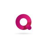 Insignia de la letra Q Plantilla del diseño del icono del vector muestra del color Fotos de archivo libres de regalías
