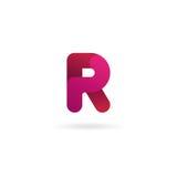 Insignia de la letra R Plantilla del diseño del icono del vector muestra del color Fotos de archivo