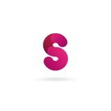 Insignia de la letra S Plantilla del diseño del icono del vector muestra del color Foto de archivo libre de regalías
