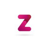 Insignia de la letra Z Plantilla del diseño del icono del vector muestra del color Imagen de archivo libre de regalías