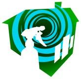 Insignia de la limpieza de la casa libre illustration