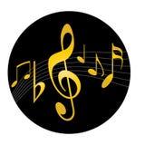 Insignia de la música ilustración del vector